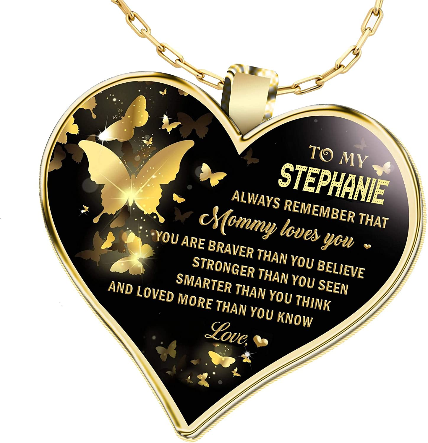 New sales Gifts Cheap mail order shopping Necklace Name for Wife to Always My Stephanie Tha Remember