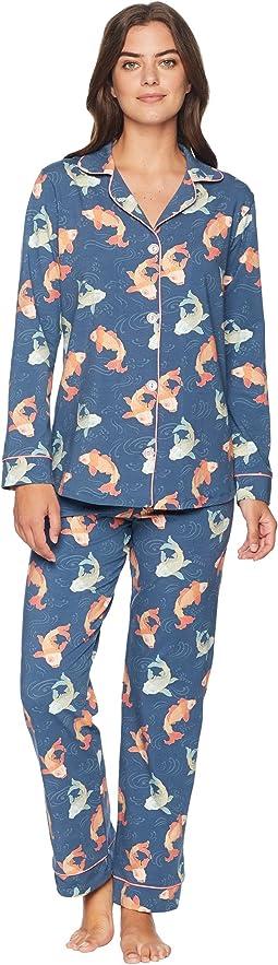 Long Sleeve Classic Knit Two-Piece Pajama Set