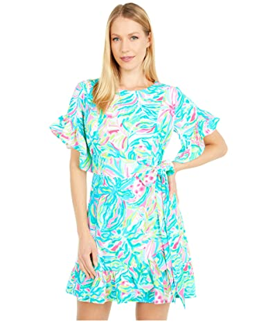 Lilly Pulitzer Darlah Stretch Dress (Multi One In A Melon) Women