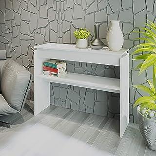 Artely Creta Console Table, White - W 100 cm x D 30 cm x H 78.5 cm