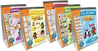 NewPath Learning 5 Piece English Language Readiness Flip Chart Set, Early Childhood