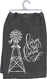 Primitives by Kathy Farmhouse Dish Towel, 28 x 28-Inches, Sweet Farm