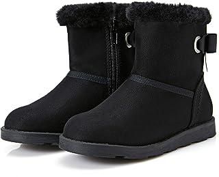 Weestep Girls Toddler Little Kid Warm Fur Winter Ankle Flat Snow Boot