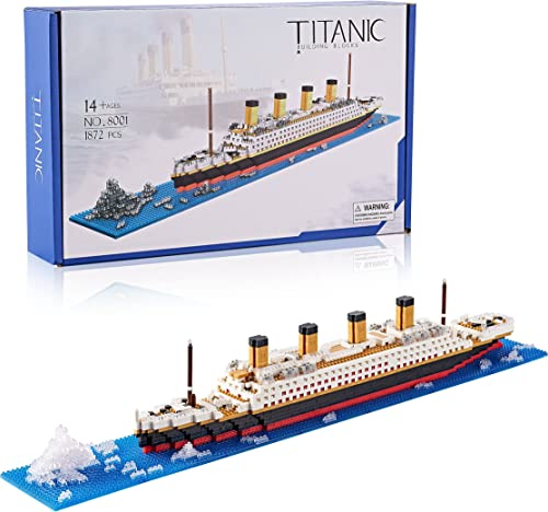popular DAFDAG Titanic Model Kit high quality , sale Gift for Kids and Adults ,Micro Block Set 1872 Pieces(with Color Package) online