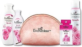 Enchanteur Romantic Range Gift Kit, 518ml (Combo of 4 + Travel Pouch)