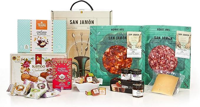 15 opinioni per San Jamón- Cesta de Regalo Gourmet Iberico, Dueñas. Chorizo e Salchichón