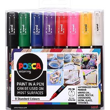 Posca 153544382 - Pack de 8 rotuladores de pintura al agua ...