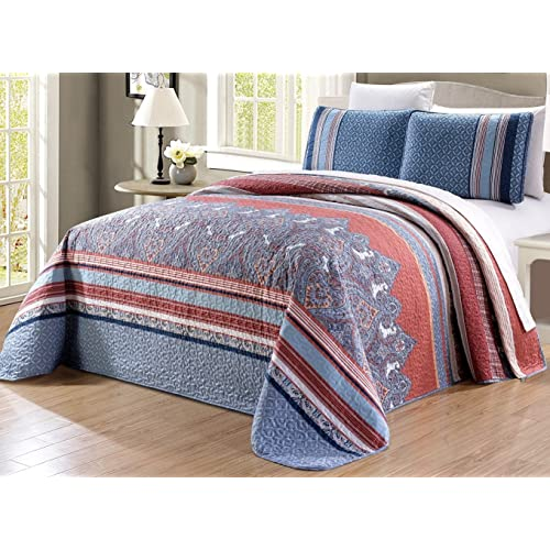 Coral And Navy Bedding Amazon Com