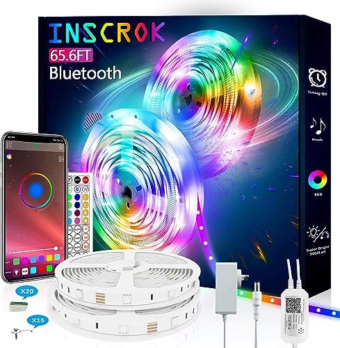 Bluetooth LED Light Strip 20M - Inscrok LED Light Strips Controlled by Smart Phone APP - Music Sync LED Lights Strip ...
