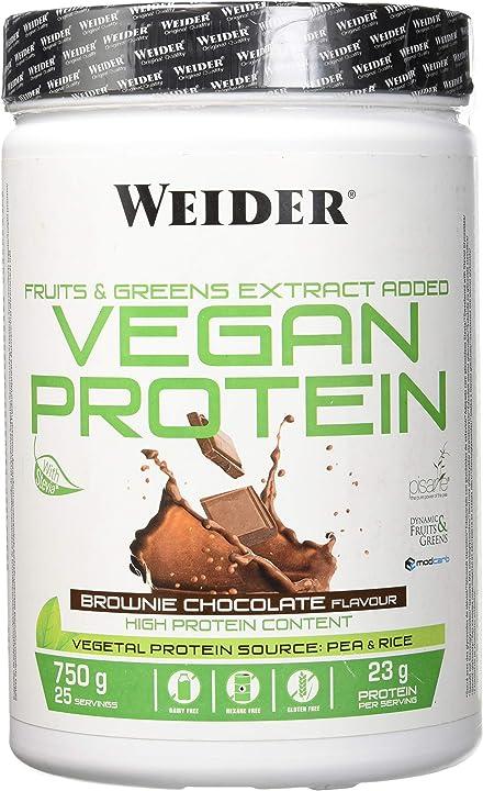 Proteine vegane weider gusto cioccolato - 750 ml B016YWDAAY