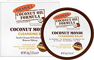 Palmer's Coconut Oil Formula, Coconut Monoi Facial Cleansing Balm   Gently Cleanses & Purifies Skin   Makeup Remover   Jar 2.25 oz
