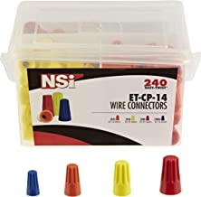 NSI ET-CP-14 Easy-Twist #4 Winged/Twist On Wire Connector Divided Combination Four Pack Pail
