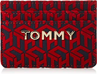 Tommy Hilfiger Iconic Card Case Holder, Red, AW0AW07847