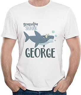 Customized Shark Family | Baby Personalized Name | Men Grandpa T-Shirt