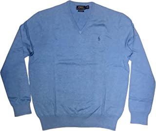 Polo Ralph Lauren Men's Pima Cotton V Neck Long Sleeve...