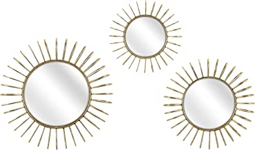 Imax 64527-3 Phillips Wall Mirrors (Set of 3), Gold