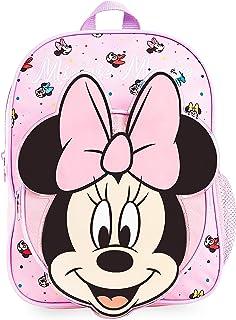 Mochilas Escolares, Material Escolar para Niñas, Mochila Infantil con Minnie Mouse en Diseño 3D, Mochila Rosa de Gran Capacidad, Regalos Originales para Niñas
