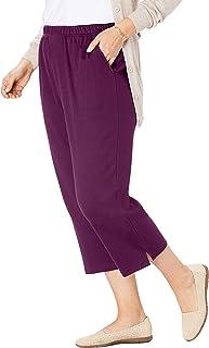Woman Within Women's Plus Size 7-Day Knit Capri