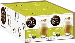 Nescafé Dolce Gusto Cappuccino, Café au Lait, Café, Capsule de Café, 96Capsules (48portions)