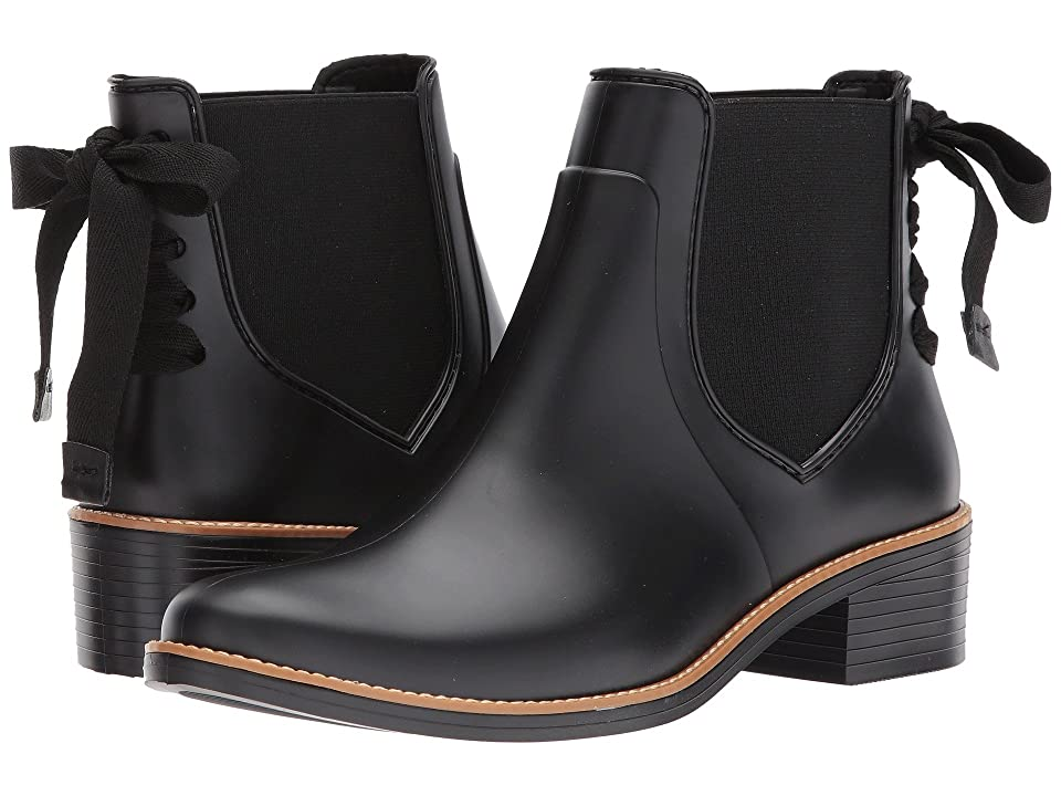 Steampunk Boots & Shoes, Heels & Flats Bernardo Paige Rain Black Womens Rain Boots $145.00 AT vintagedancer.com
