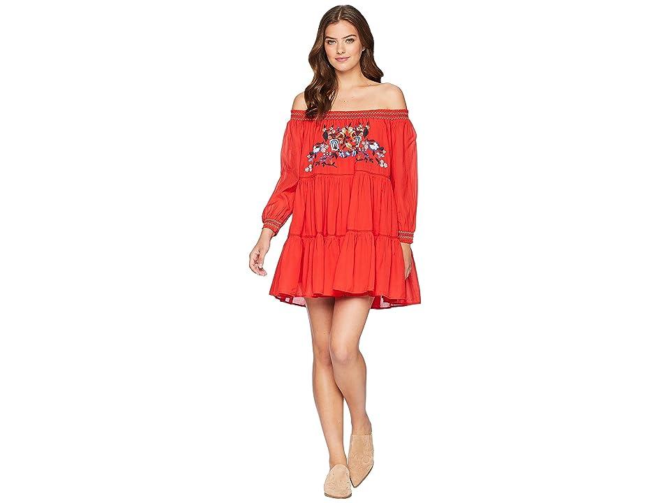 Free People Sunbeams Mini Dress (Red) Women