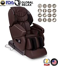 Nirvana 3D Massage Chair - Brown (2019 Model) - Professional Relax shiatsu Armchair with 9 Programs - Zero Gravity, Magnetic, ionizer and Heating System - 2 Years Official Warranty GLOBAL RELAX US