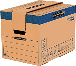 Fellowes 6205201 Caisses de déménagement à charge lourde montage automatique Bankers Box SmoothMove - Small - Lot de 5
