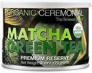MatchaDNA Certified Organic Ceremonial Grade Matcha Green Tea Powder, TIN CAN (6 Ounce)