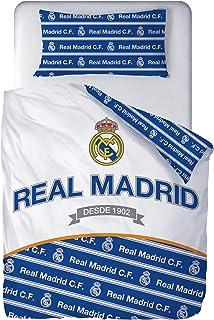 Real Madrid Juego de Cama 100% Algodón Funda Nórdica + Funda Almohada Fútbol RM181180
