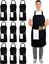 Utopia Kitchen 10 Pack Adjustable Bib Apron with 2 Pockets - Adjustable Neck Strap - 32-Inch by 28-Inch with Extra Long Ti...