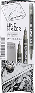 أقلام جرافيت ديروينت 2302-209، أقلام رسم خط الرسم الجرافيتي، 3 عبوات (2302209)