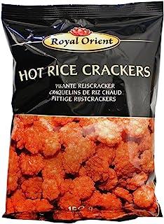 10x150g Royal Orient Hot Rice Crackers Pikante Reiscracker