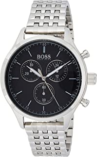 Hugo Boss Mens Quartz Watch, Chronograph Display and Stainless Steel Strap 1513652