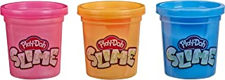 Play-Doh E8810 Cans of Slime Compound, 3.2oz, Pack of 3, Blue, Metallic Orange, Metallic Pink