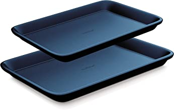 NutriChef Non-Stick Cookie Sheet Baking Pans – 2-Pc. Professional Quality Kitchen Cooking Non-Stick Bake Trays