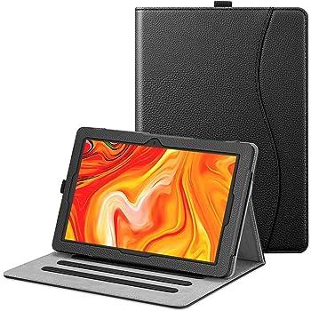 Fintie Funda para Tablet 10.1 Pulgadas Vankyo MatrixPad Z4 - [Protección de Esquina] Carcasa de Ángulos Múltiples con Bolsillo Función de Soporte, Mármol (Negro)