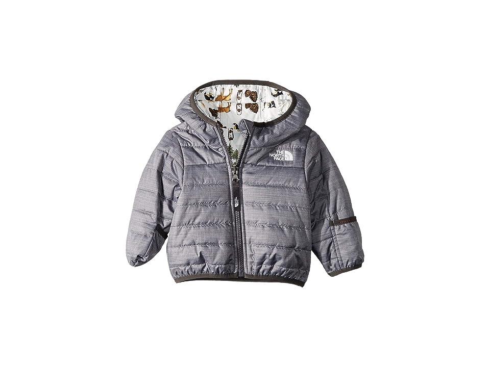 The North Face Kids Reversible Perrito Jacket (Infant) (TNF Medium Grey Heather/Graphite Grey) Kid's Coat, Gray