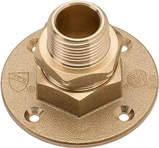 HomeFlex 11-464-008 3/4-Inch Brass Corrugated Stainless Steel Tubing  x MIPT Termination Flange