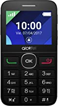 "Alcatel 2008G -Teléfono Móvil (Fácil uso, Pantalla de 2.4"" QVGA ,320x240, 2G, cámara trasera 2 Mpx, 8MB de RAM, 16MB de ROM, batería 1400mAh), Negro/Plateado"