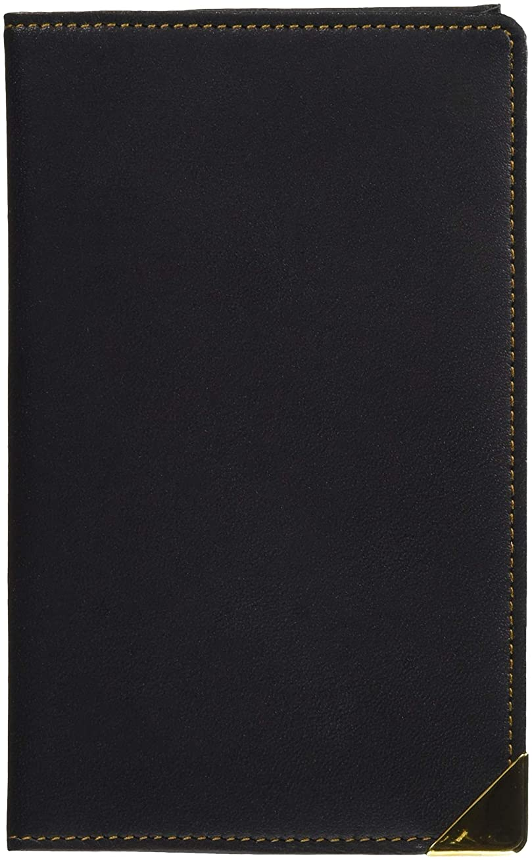 炎上慈悲深い難民コレクト 手帳カバー 黒 《本皮》 5×3 CP-753-BK