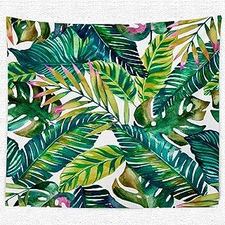 plantas tropicales 2 dormitorio sala de estar 200 x 150 cm Thmyo Decor Tapiz de pared para dormitorio