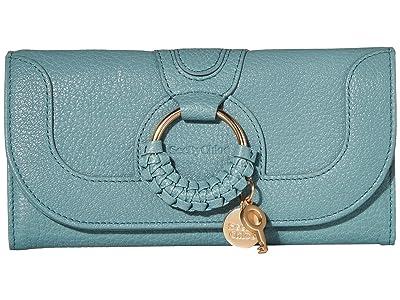 See by Chloe Hana Continental Wallet (Mineral Blue) Wallet Handbags