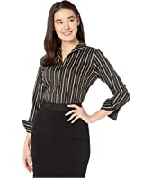 Petite Non Iron Gracey Stretch Stripe Blouse