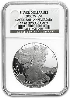 2006 W Proof Silver American Eagle PF-70 NGC (Black Label) 1 OZ PF70 NGC