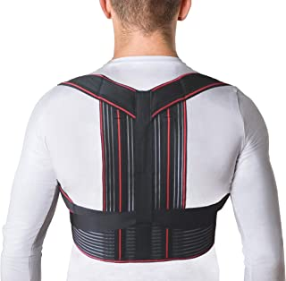 JNTAR Upper Back Brace Posture Corrector for Women & Men Corrects Slouching Hunching & Bad Posture Provides Clavicle & Shoulders Support Solution for Kyphosis & Scoliosis, Medium Fixation (M (31-35