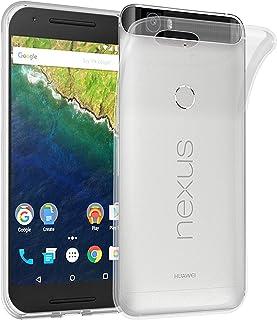 Cadorabo Funda para Huawei Nexus 6P en Transparente – Cubierta Proteccíon de Silicona TPU Delgada e Flexible con Antichoque – Gel Case Cover Carcasa Ligera