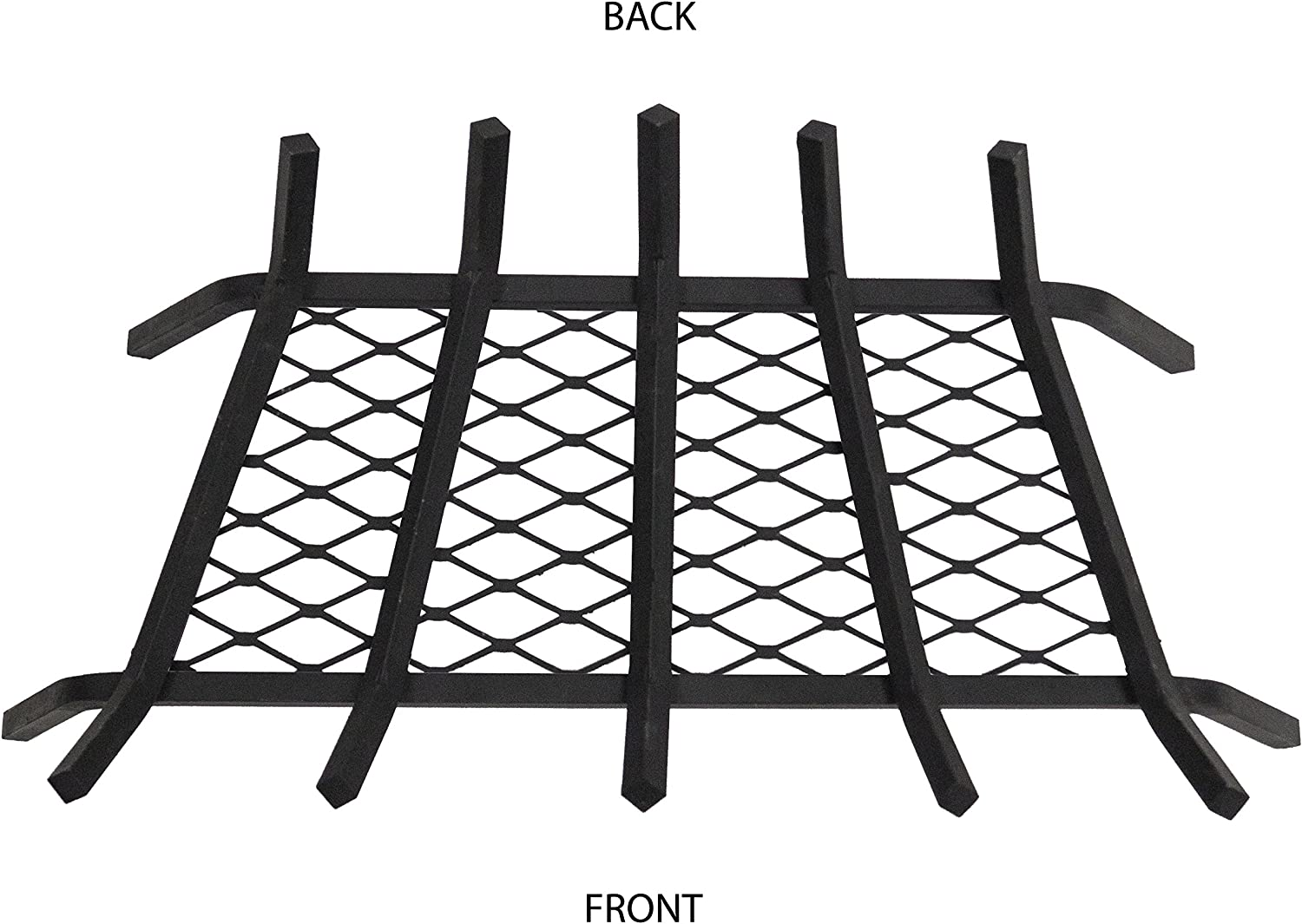 Black Pleasant Hearth 24-Inch 1//2 Solid Steel Fireplace Grates With Ember Retainer