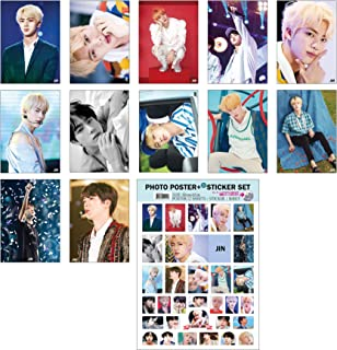 IDOLPARK BTS (Group & Solo) 2019 New 12 Posters + 1 Sticker Set (Jin)