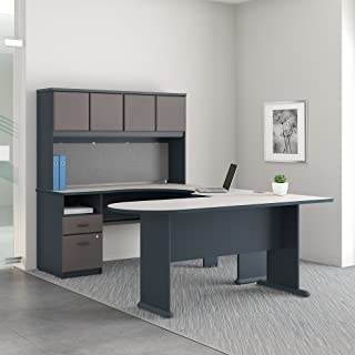 Series A U Shaped Desk with Hutch, Peninsula and Storage