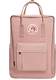 KALIDI Casual Backpack for Women,15 Inches Laptop Classic Backpack Camping Rucksack Travel Outdoor Daypack College School Bag Pink Pink